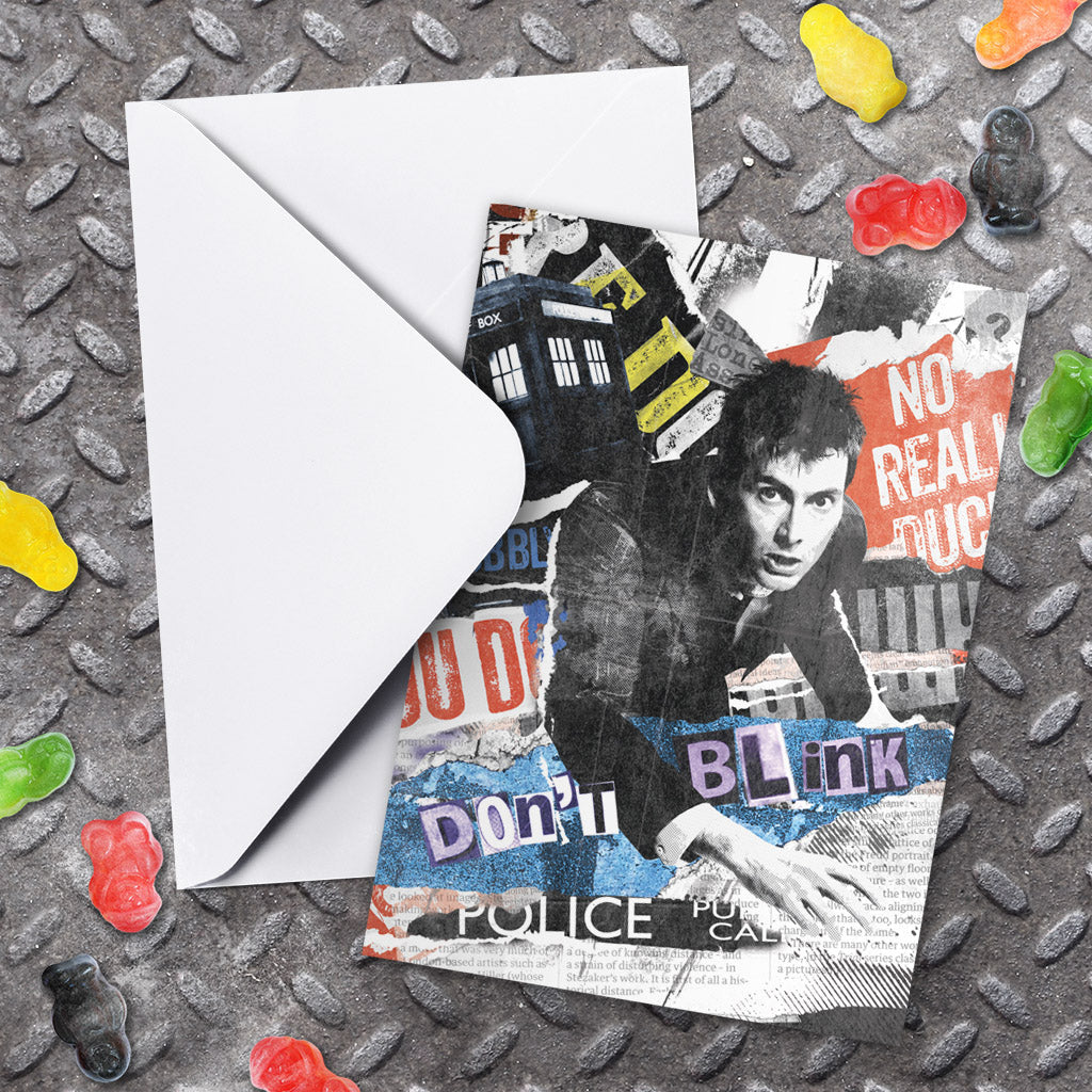 Tenth Doctor Collage Greeting Card (Lifestyle)