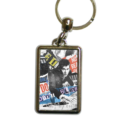 Tenth Doctor Collage Metal Keyring