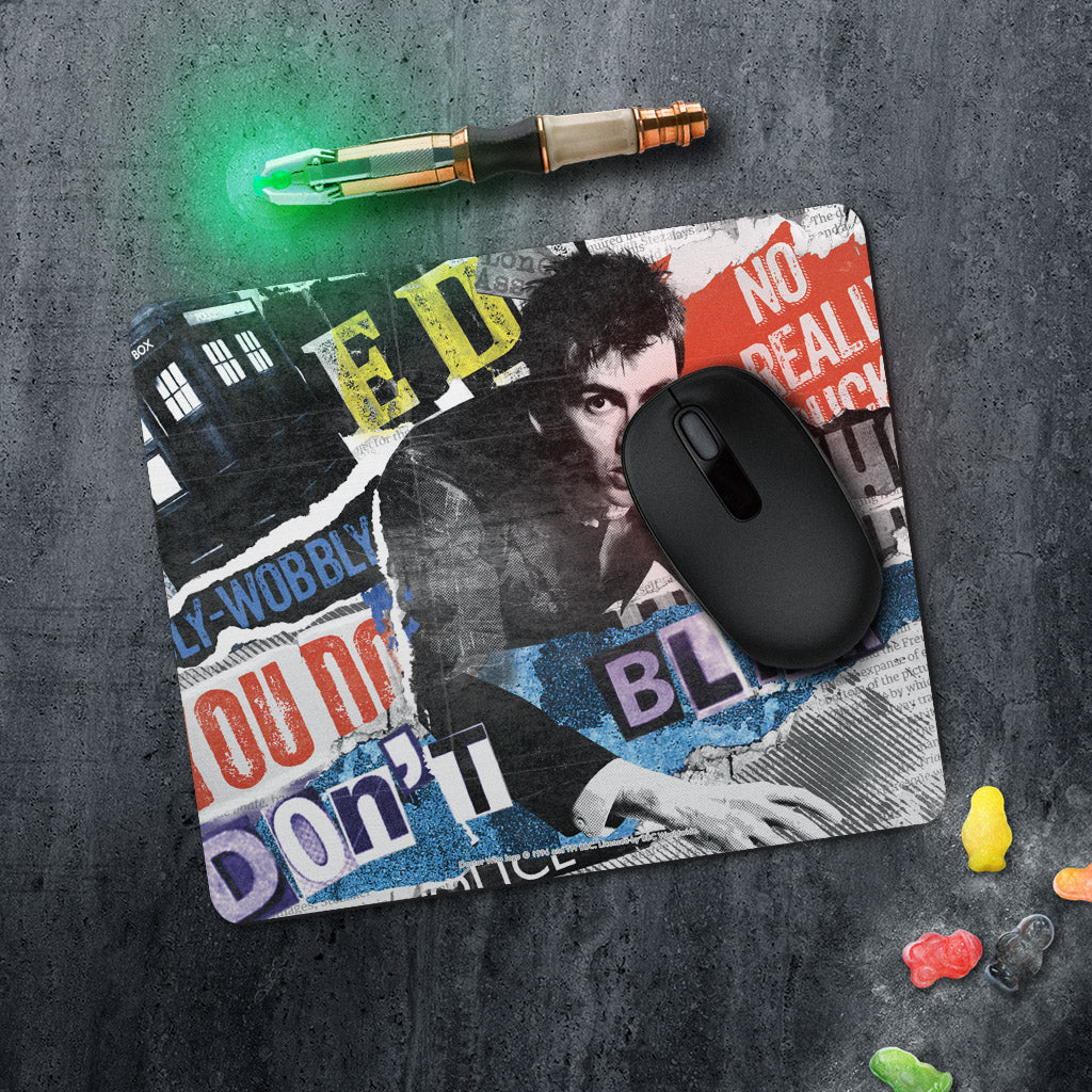 Tenth Doctor Collage Mousemat (Lifestyle)
