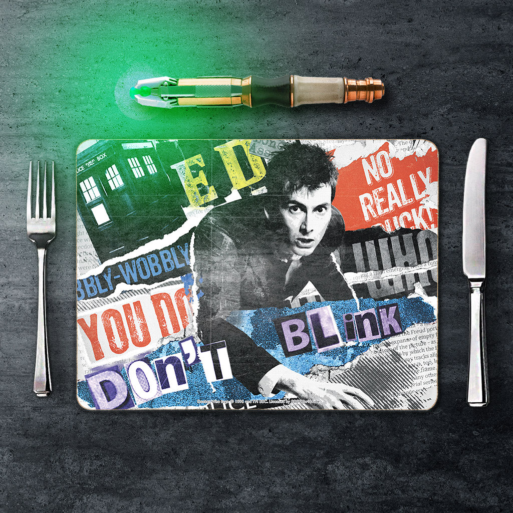 Tenth Doctor Collage Placemat (Lifestyle)