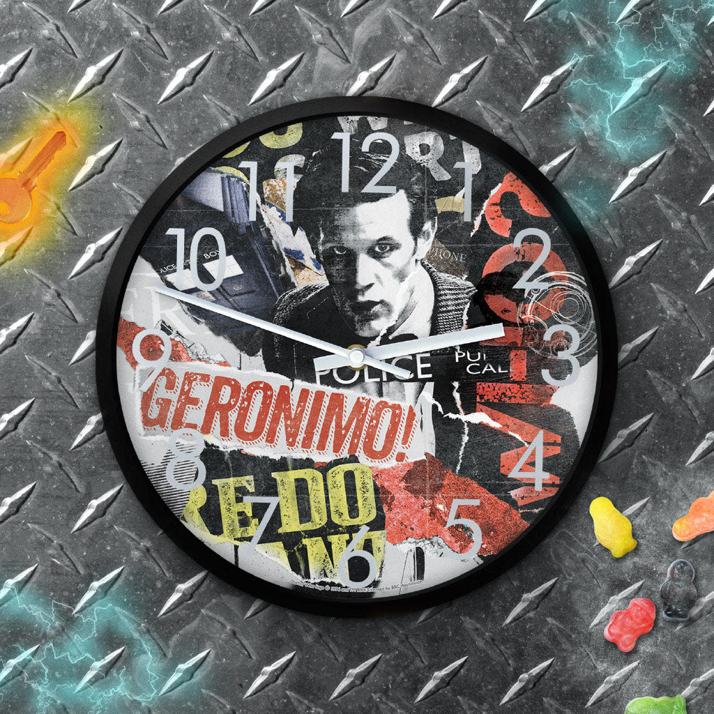 Eleventh Doctor Collage Clock