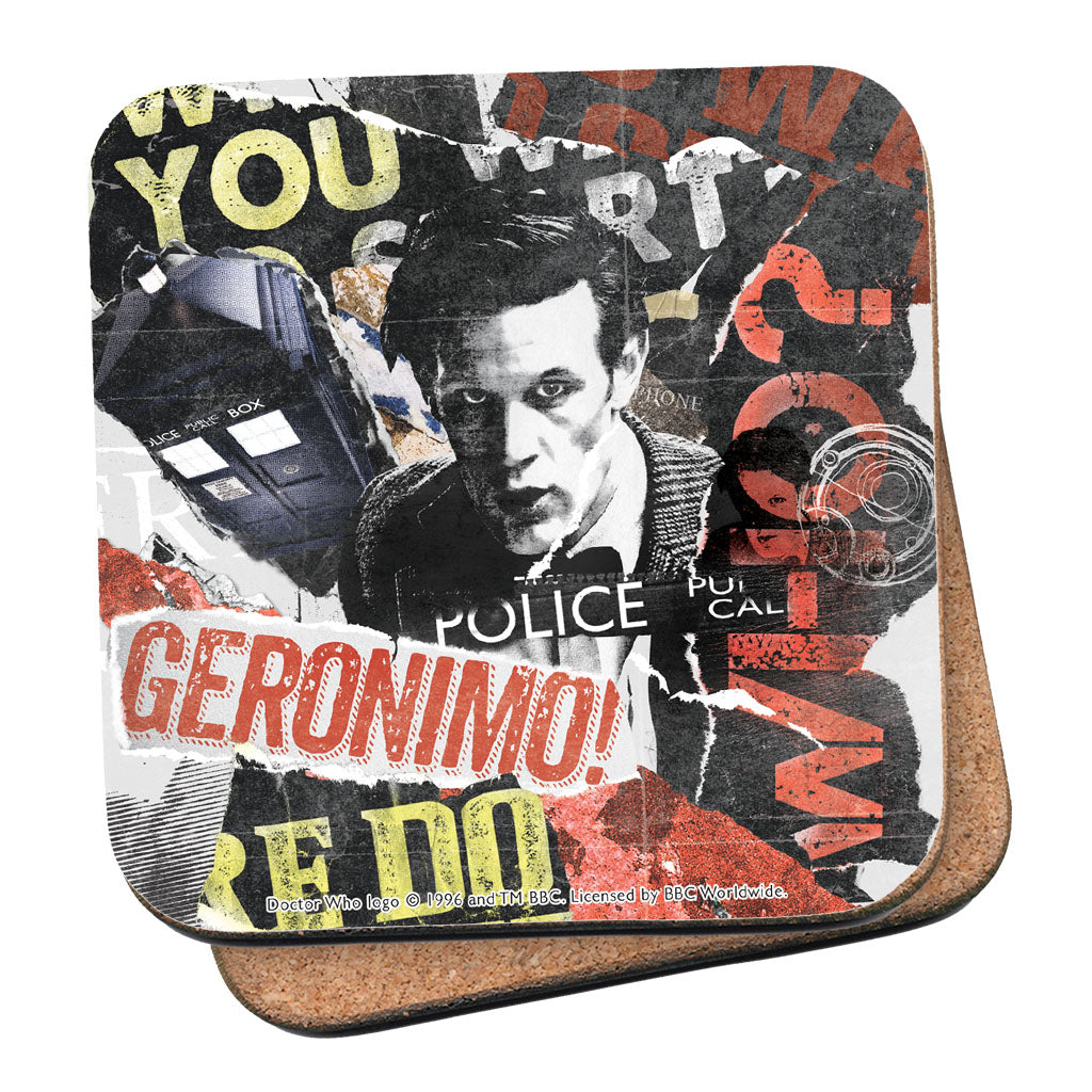 Eleventh Doctor Collage Coaster