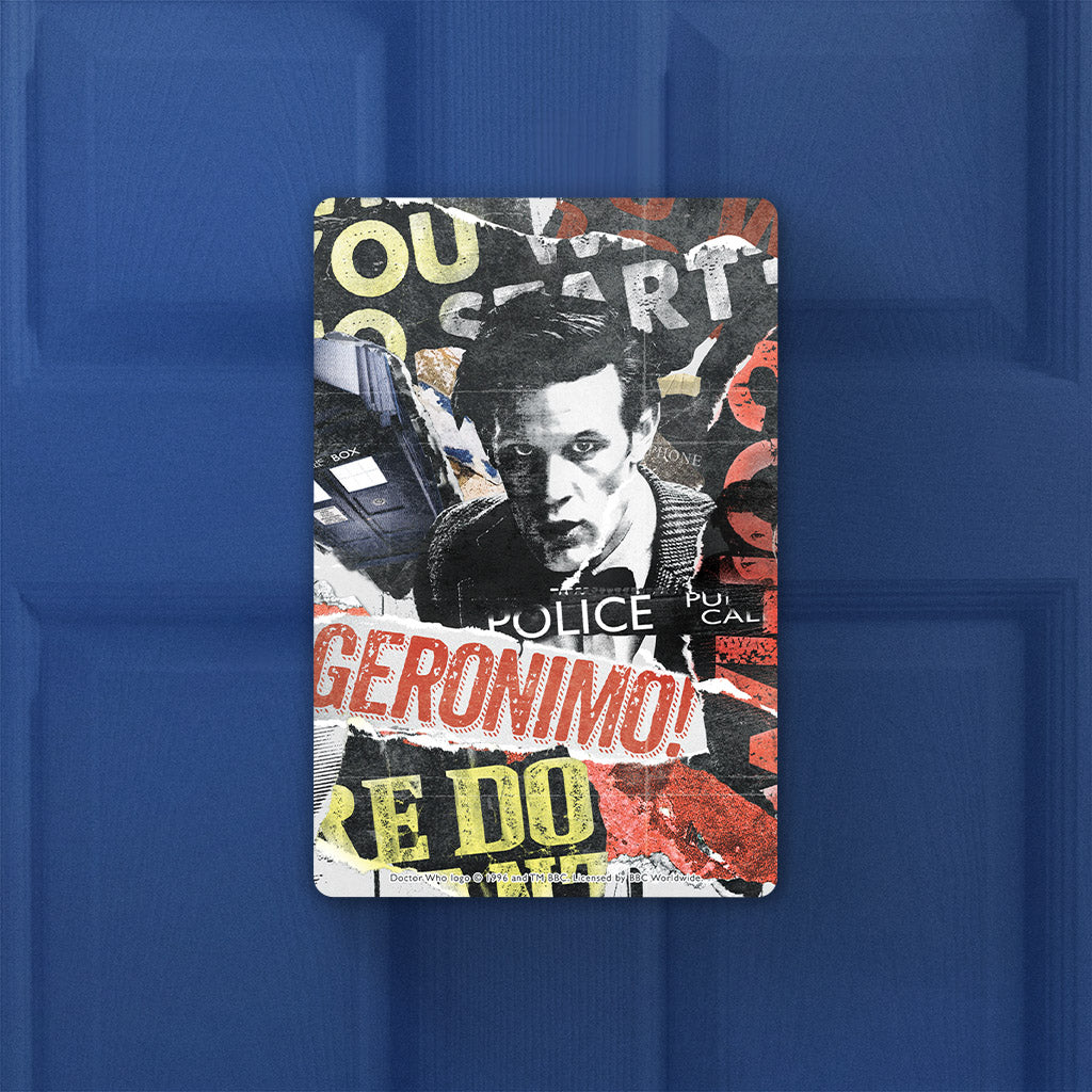 Eleventh Doctor Collage Door Plaque (Lifestyle)