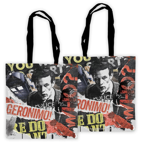 Eleventh Doctor Collage Edge to Edge Tote