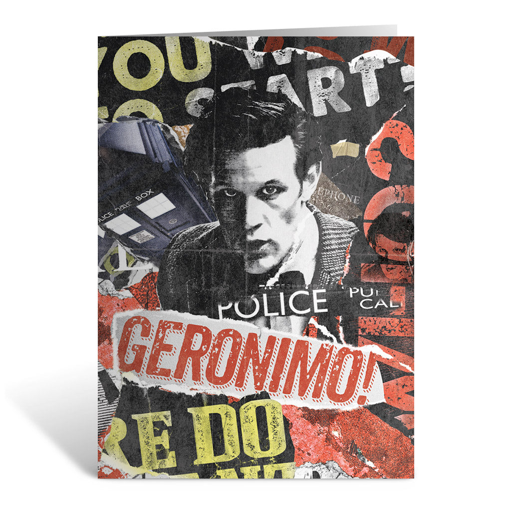 Eleventh Doctor Collage Greeting Card