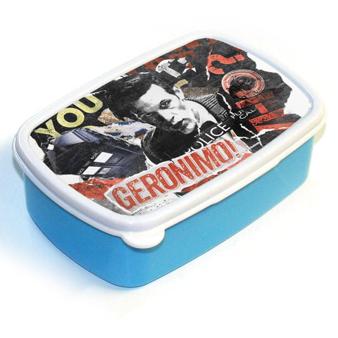 Eleventh Doctor Collage Lunchbox