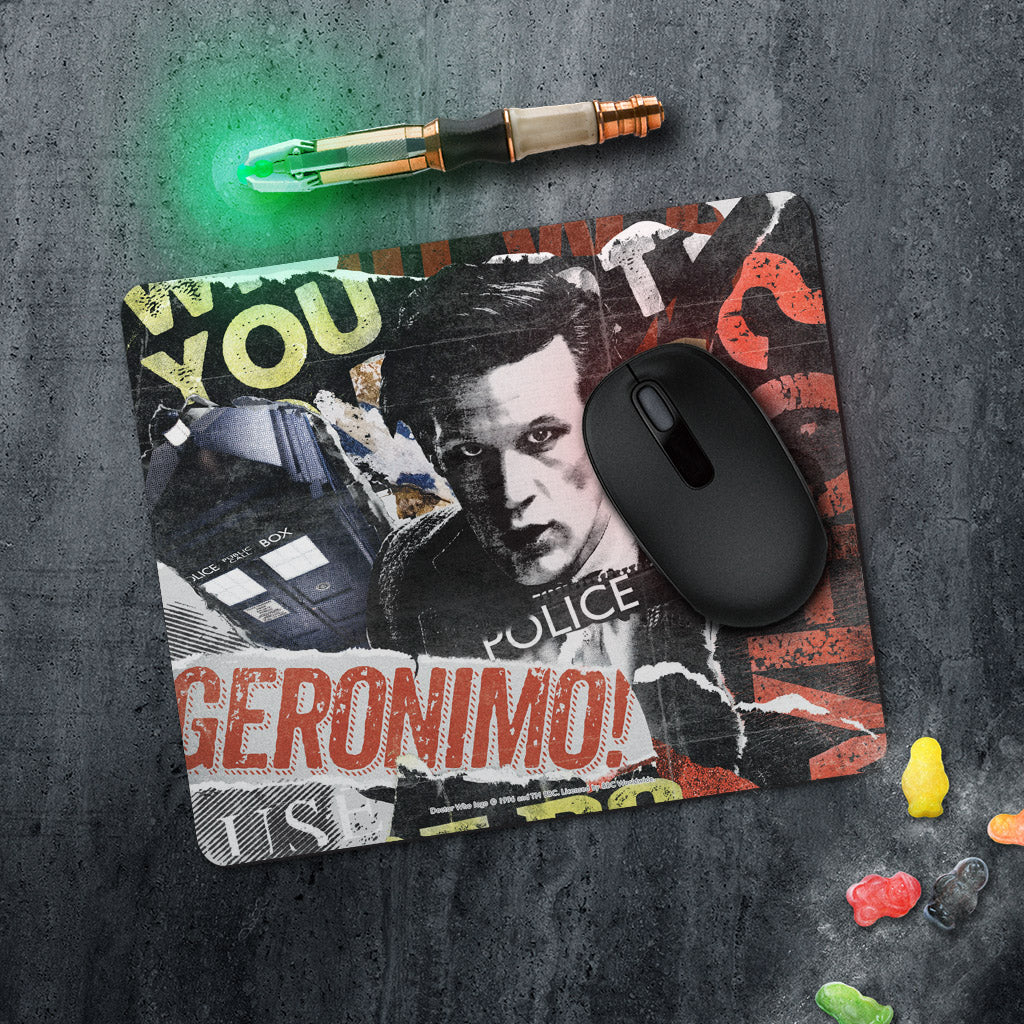 Eleventh Doctor Collage Mousemat (Lifestyle)