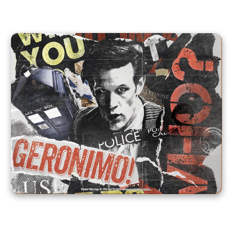 Eleventh Doctor Collage Placemat