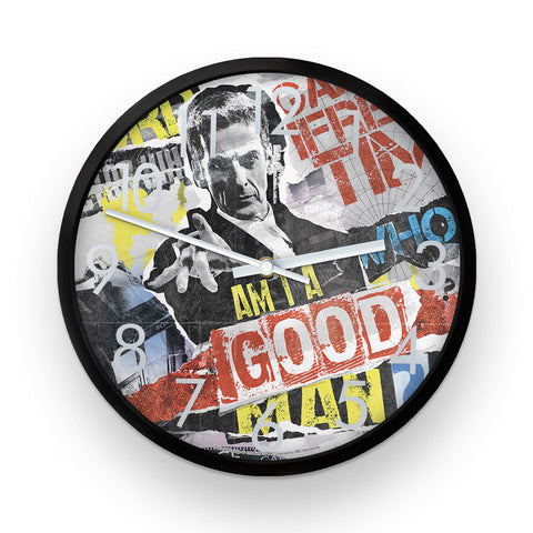 Twelfth Doctor Collage Clock