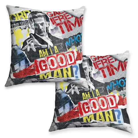 Twelfth Doctor Collage Cushion
