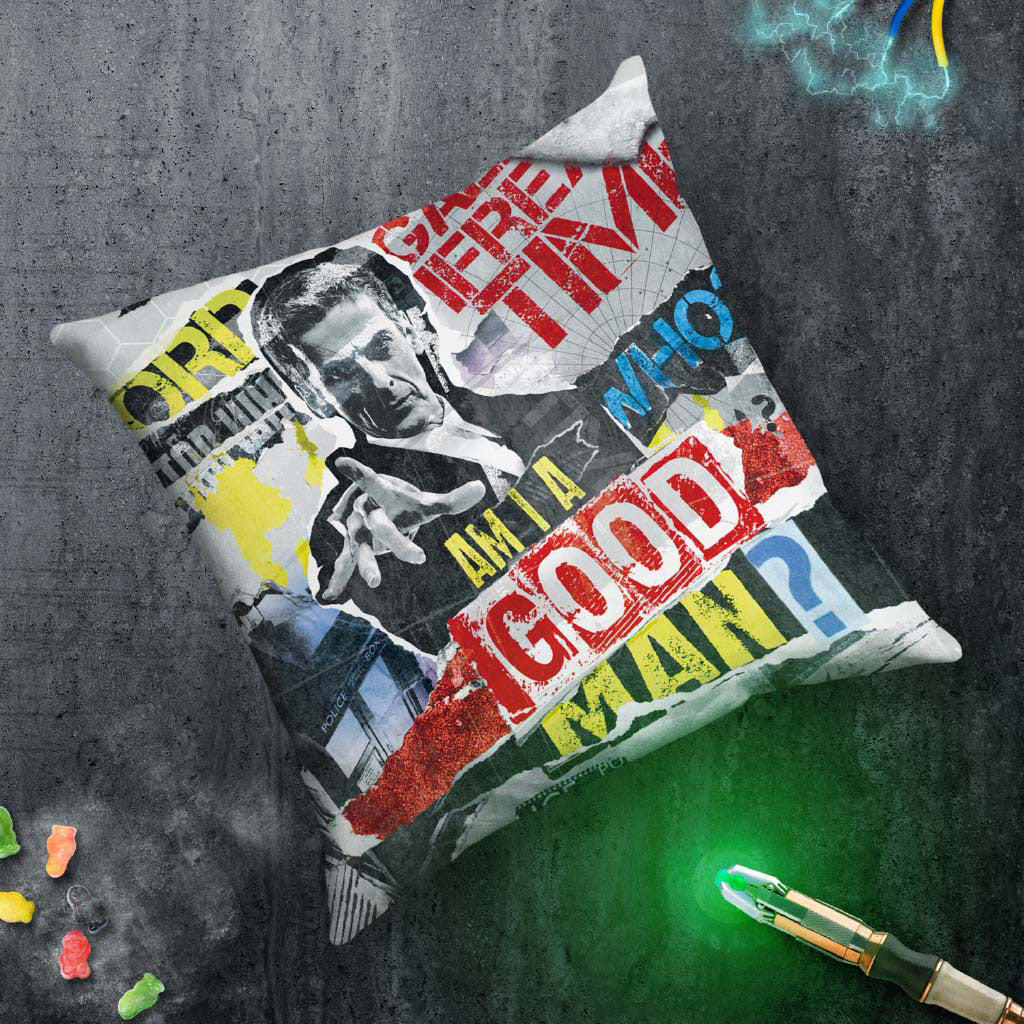 Twelfth Doctor Collage Cushion (Lifestyle)