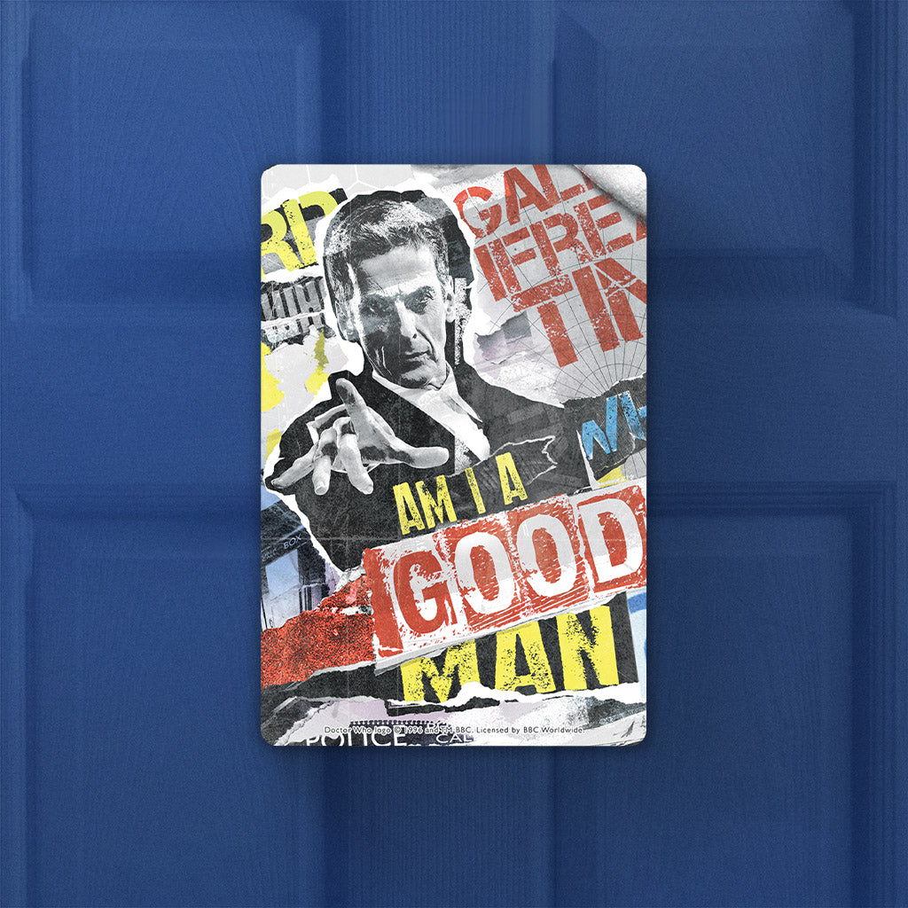Twelfth Doctor Collage Door Plaque (Lifestyle)