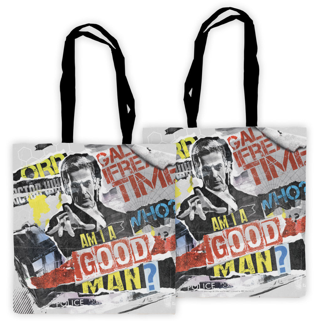 Twelfth Doctor Collage Edge to Edge Tote