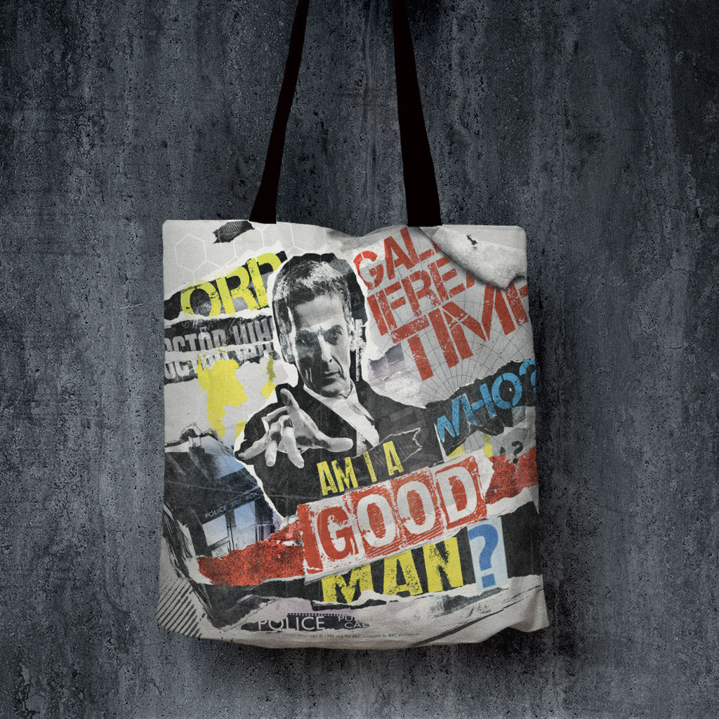 Twelfth Doctor Collage Edge to Edge Tote (Lifestyle)