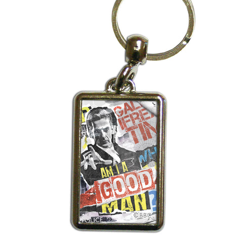 Twelfth Doctor Collage Metal Keyring