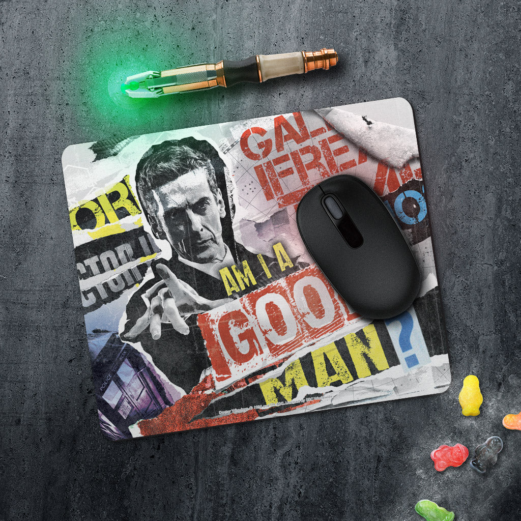 Twelfth Doctor Collage Mousemat (Lifestyle)