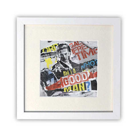 Twelfth Doctor Collage Square White Framed Print