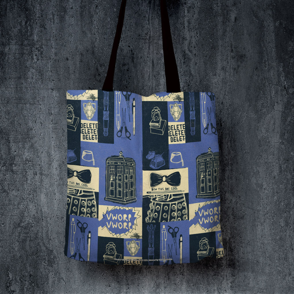Who Home Handmade Pattern Edge to Edge Tote (Lifestyle)