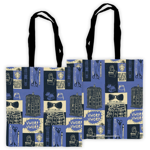 Who Home Handmade Pattern Edge to Edge Tote