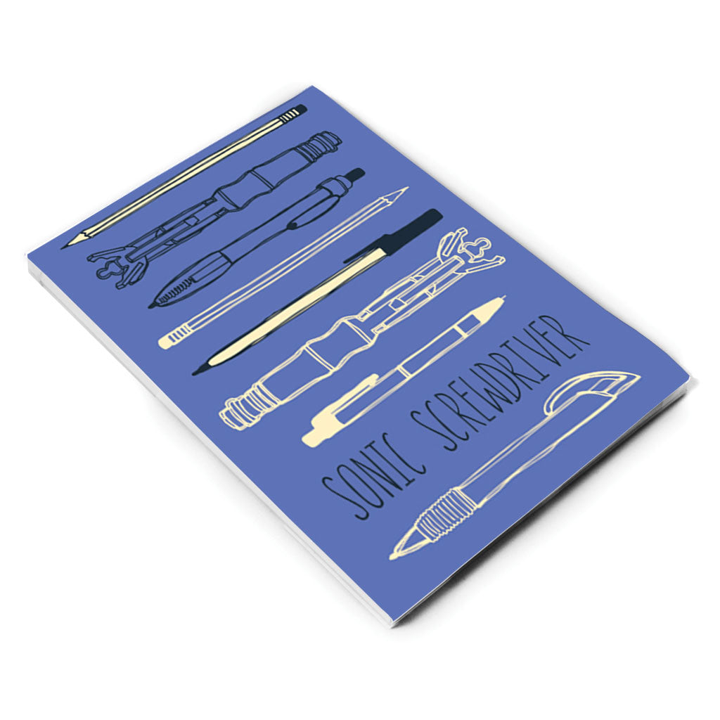 Who Home Handmade Sonic Screwdriver A5 Notepad