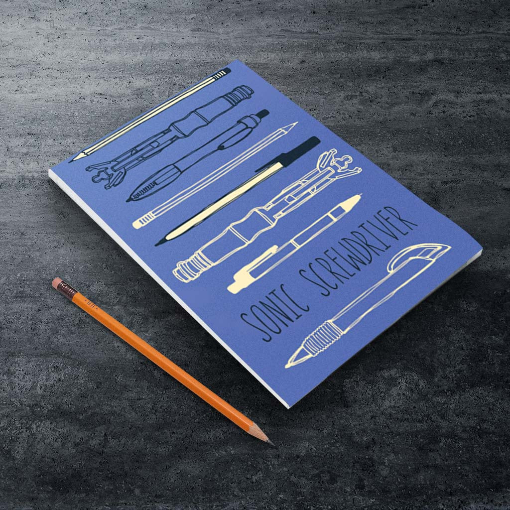 Who Home Handmade Sonic Screwdriver A5 Notepad (Lifestyle)