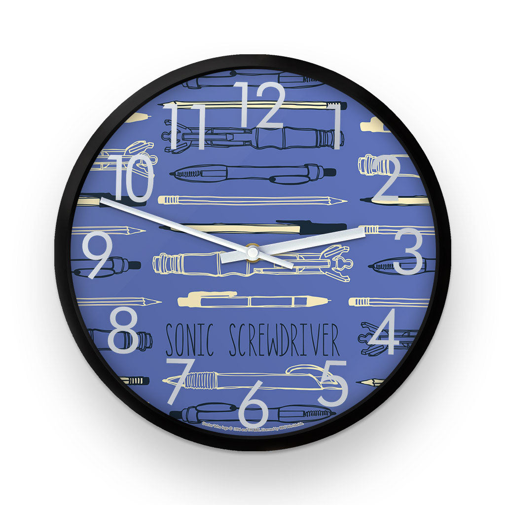 Who Home Handmade Sonic Screwdriver Clock