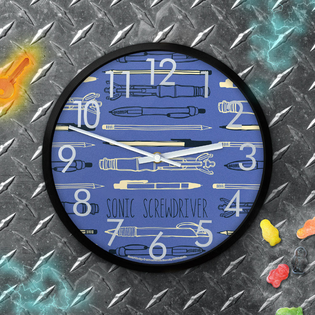 Who Home Handmade Sonic Screwdriver Clock (Lifestyle)