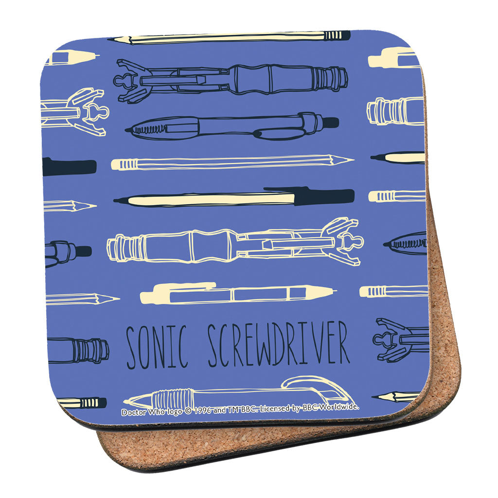 Who Home Handmade Sonic Screwdriver Coaster