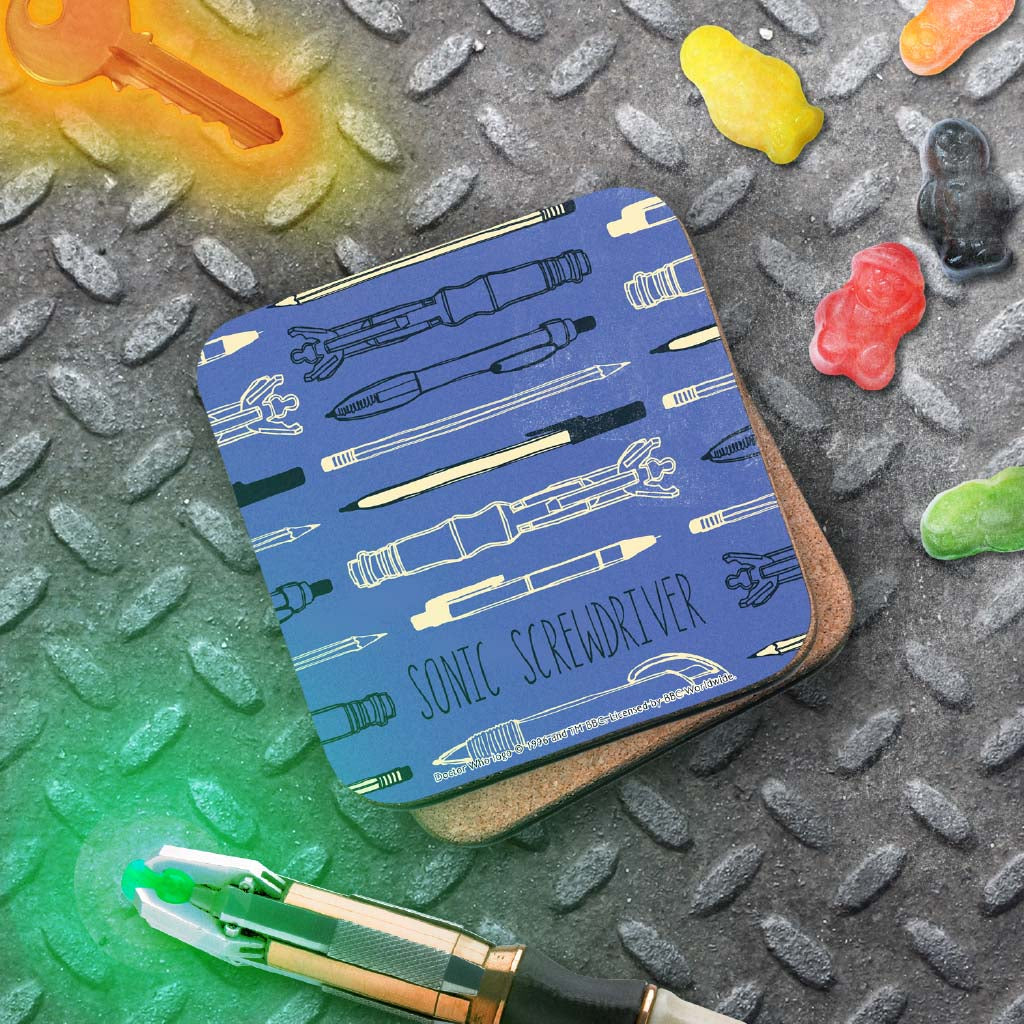 Who Home Handmade Sonic Screwdriver Coaster (Lifestyle)