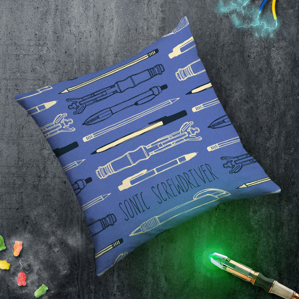Who Home Handmade Sonic Screwdriver Cushion (Lifestyle)