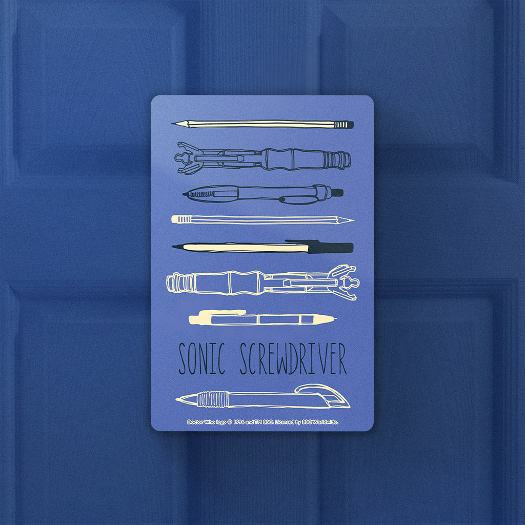 Who Home Handmade Sonic Screwdriver Door Plaque (Lifestyle)