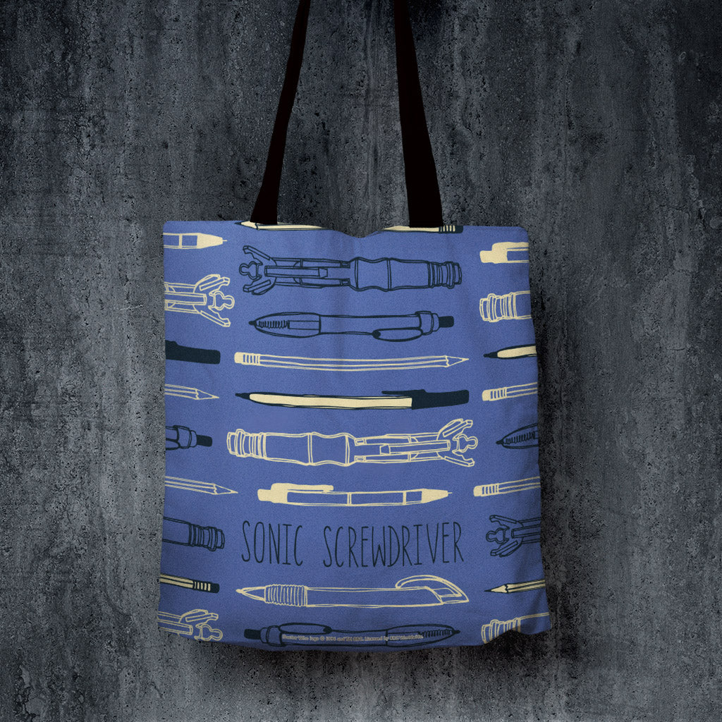 Who Home Handmade Sonic Screwdriver Edge to Edge Tote (Lifestyle)