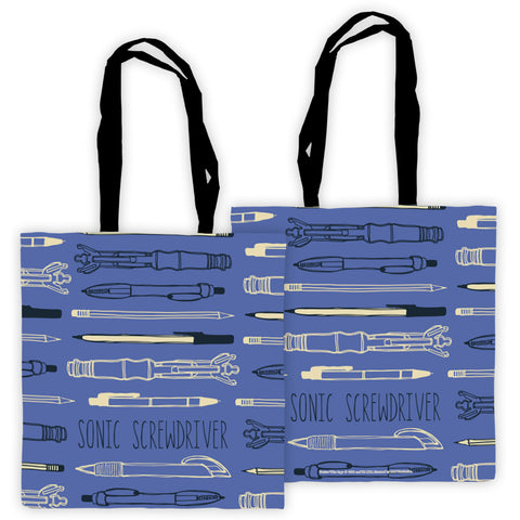 Who Home Handmade Sonic Screwdriver Edge to Edge Tote