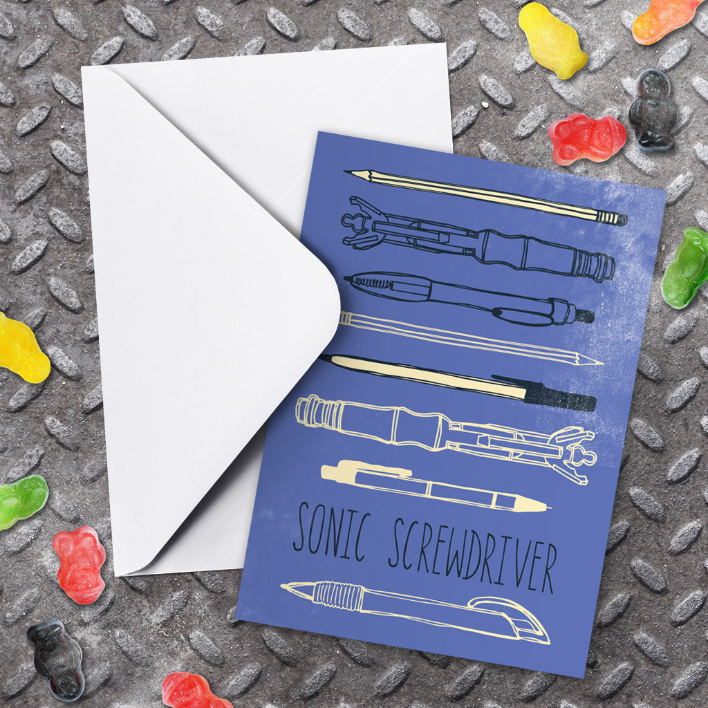 Who Home Handmade Sonic Screwdriver Greeting Card (Lifestyle)