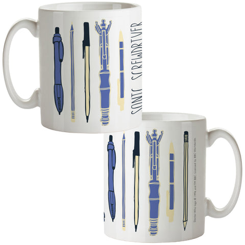 Who Home Handmade Sonic Screwdriver Mug