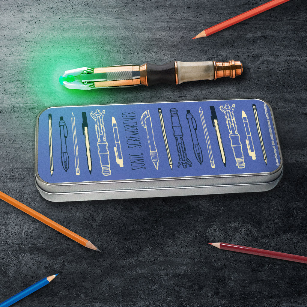Who Home Handmade Sonic Screwdriver Pencil Tin (Lifestyle)