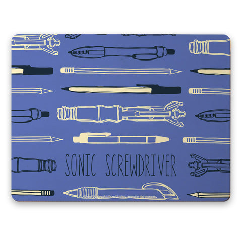 Who Home Handmade Sonic Screwdriver Placemat