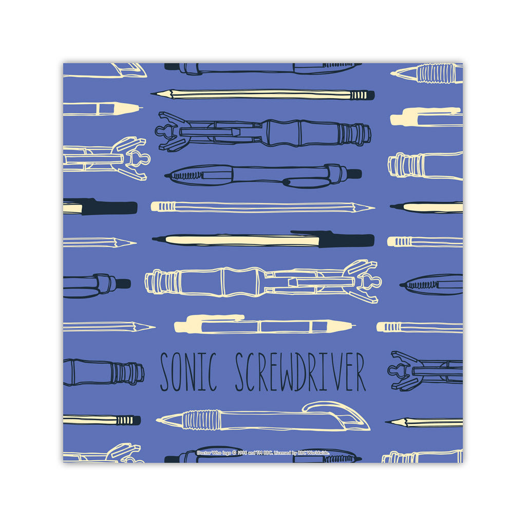 Who Home Handmade Sonic Screwdriver Square Art Print