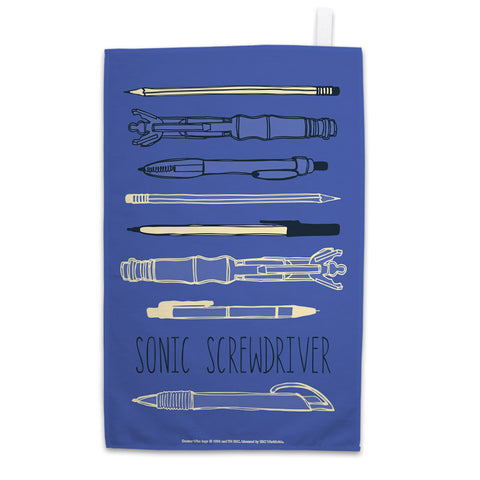 Who Home Handmade Sonic Screwdriver Tea Towel