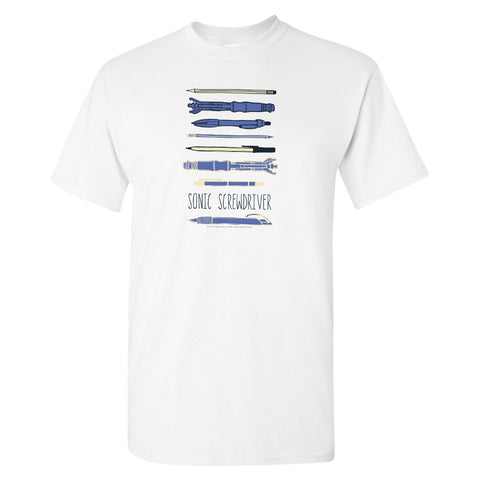 Who Home Handmade Sonic Screwdriver T-Shirt