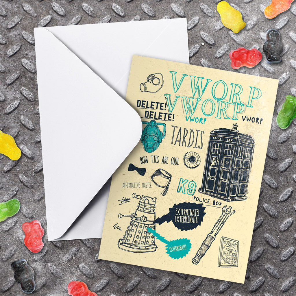 Who Handmade Elements Greeting Card (Lifestyle)