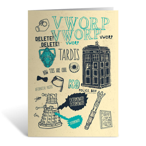 Who Handmade Elements Greeting Card