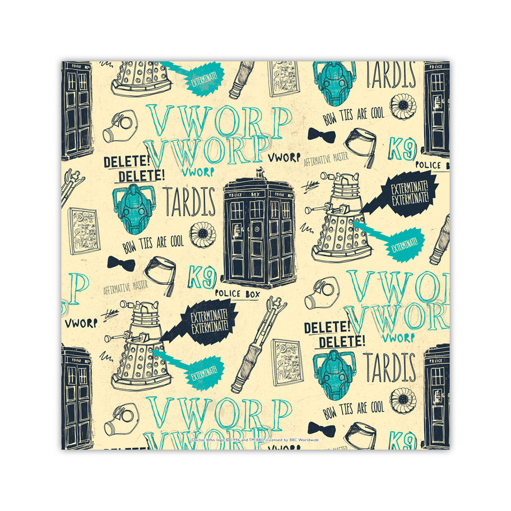 Who Handmade Elements Square Art Print