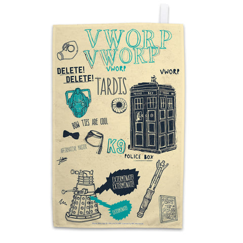 Who Handmade Elements Tea Towel
