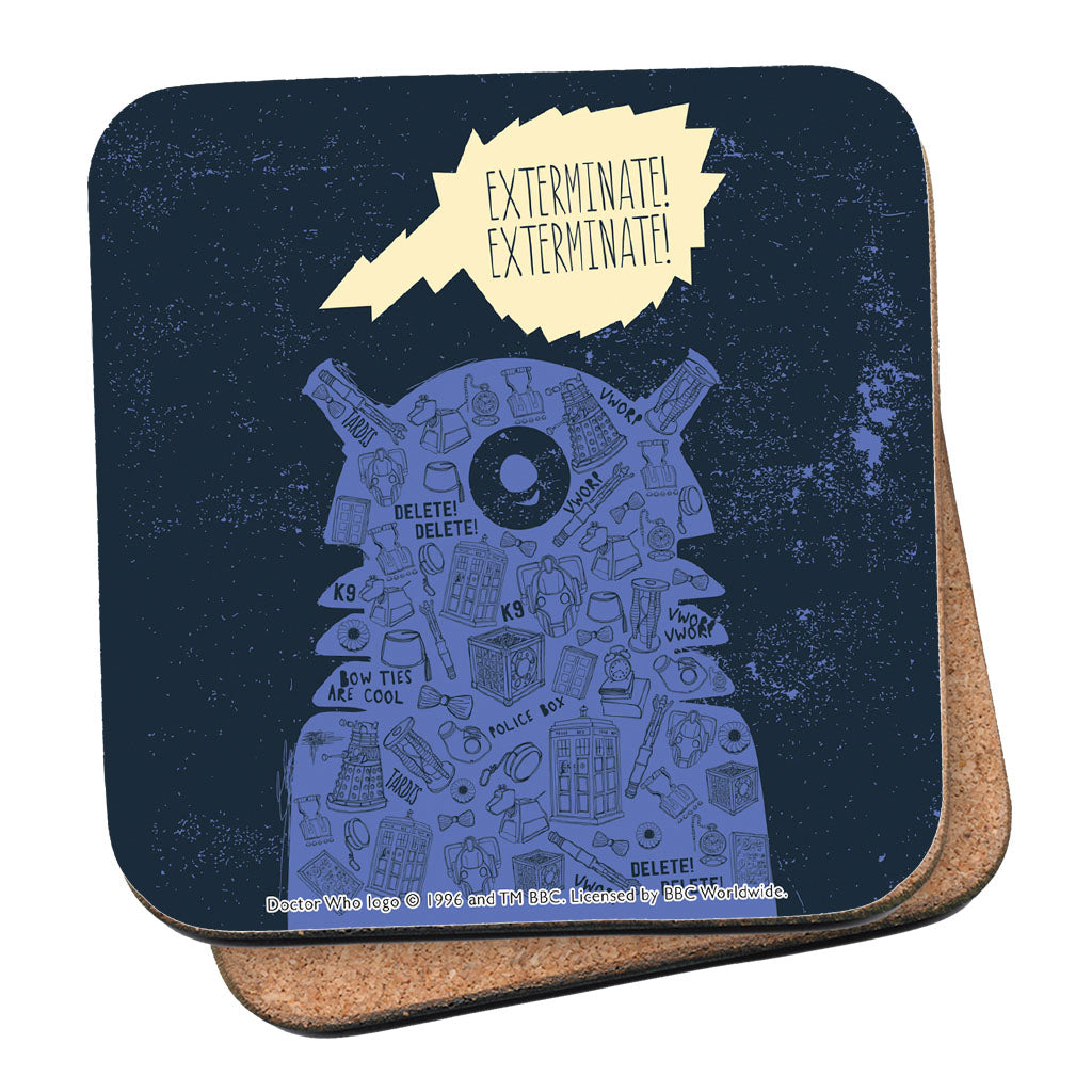 Who Home Handmade Dalek Coaster