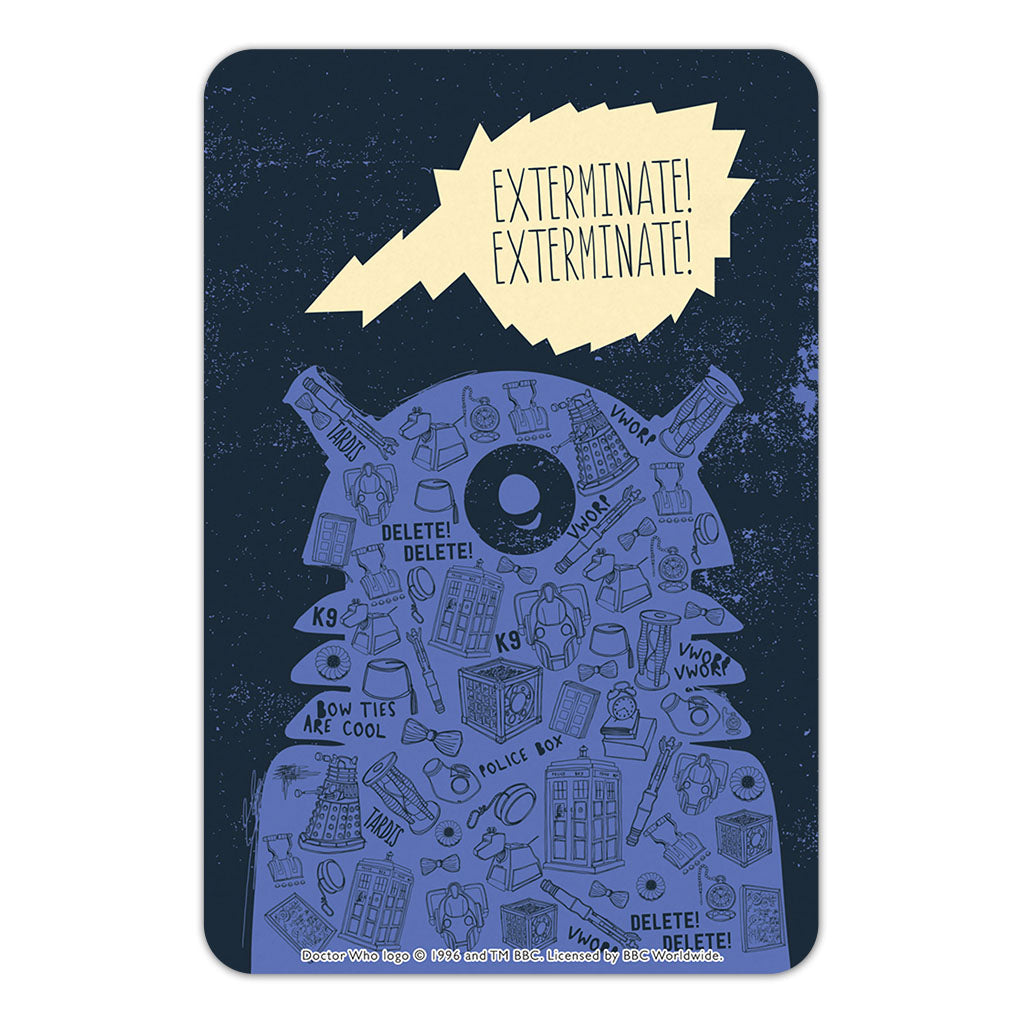 Who Home Handmade Dalek Door Plaque