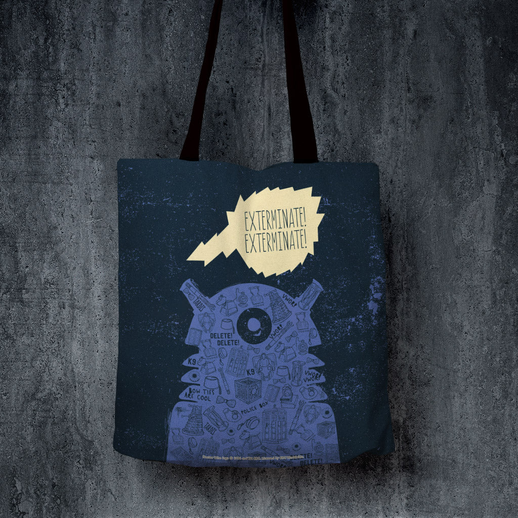 Who Home Handmade Dalek Edge to Edge Tote (Lifestyle)