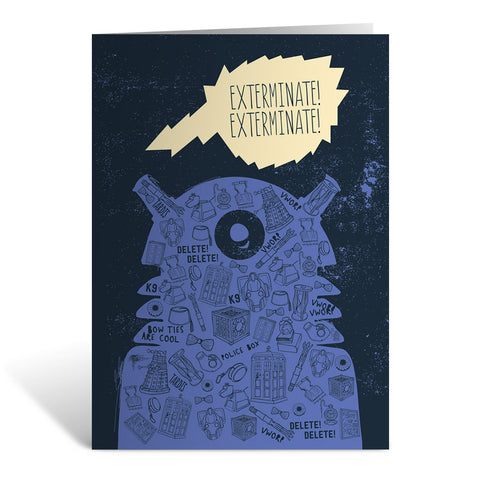 Who Home Handmade Dalek Greeting Card