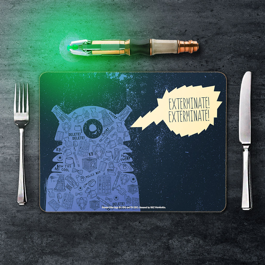 Who Home Handmade Dalek Placemat (Lifestyle)