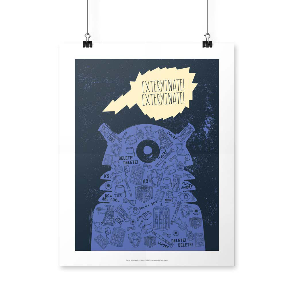 Who Home Handmade Dalek Art Print